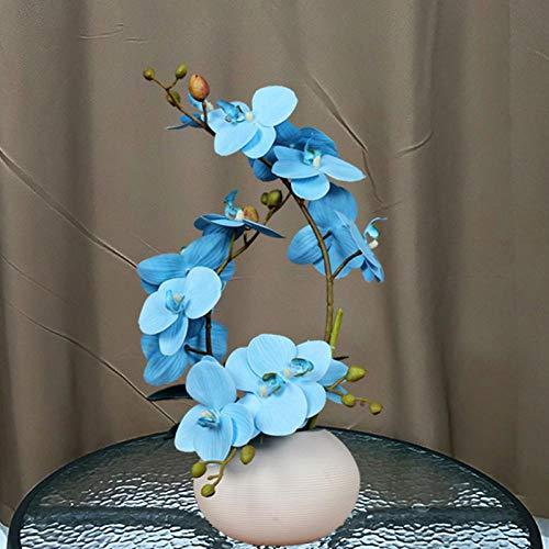 Sculpturen Beeldjes Keramische Vaas + Vlinder Orchidee Kunstbloemen Ambachten Phalaenopsis Decor Salontafel Floral Ornament