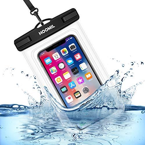 HOOMIL wasserdichte Handyhülle, Universal Wasserfeste Handytasche IPX8 Unterwasser Handy Hülle für iPhone SE 2020/8/7/6 Plus, iPhone 11 Pro Max/XR/XS/X, Weiß