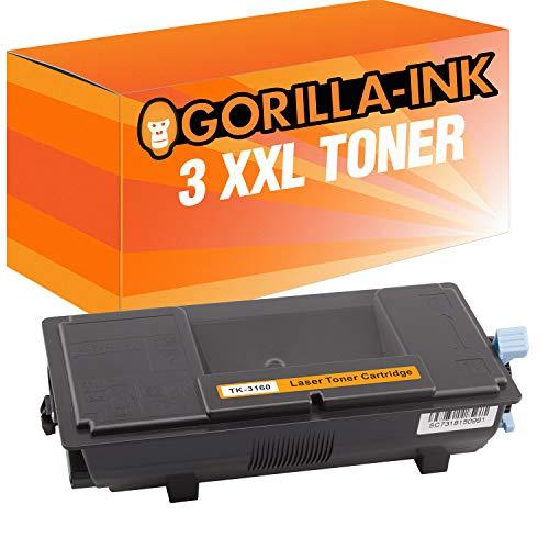 Gorilla-Ink 3 Toner XXL para Kyocera TK-3160 Negro ECOSYS M 3145 DN M 3645 DN P 3045 DN P 3050 DN P 3055 DN P 3060 DN M3145DN M3645DN P3045DN P3050DN P3055DN P3055DN P3060DN