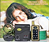 GROOVYPETS Remote Dog Training Shock Collar & Underground/In-Ground Electric Containment Fence System Combo for Medium and Large Dog