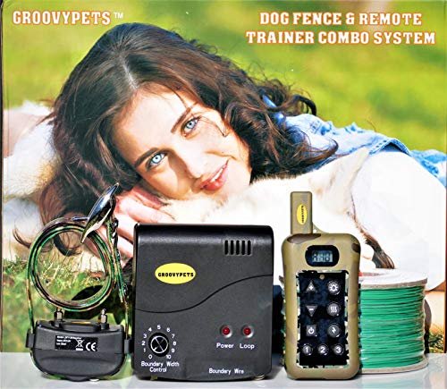 Groovypets Remote Training Dog Collar & Inground Electronic Containment Fence System