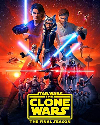 LONGLONG Star Wars The Clone Wars Season 7 35cm x 44cm 14inch x 18inch Silk Print Poster 005- Fabric Cloth Wall Decor Home Decor