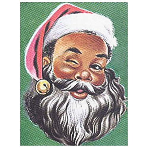 Twin Size Flannel Bed Blanket, African American Black Santa Claus Christmas Fleece Blanket for Couch or Bed, Soft Breathable Thermal Blanket for Adults or Kids, 60''×80''