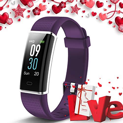 Lintelek, Fitness Tracker, con cardiofrequenzimetro, 14 modalità di Sport programmabili, Orologio Smart con Bluetooth e contapassi, per Uomo, Donna e Bambino (GFPL)