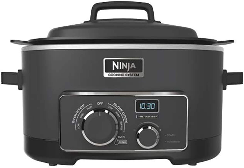SharkNinja 842372111935 Ninja 6 Quart 3 in 1 Black Multi-System Slow Cooker (Renewed)