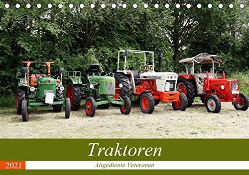 Traktoren - Altgediente Veteranen (Tischkalender 2021 DIN A5 quer)