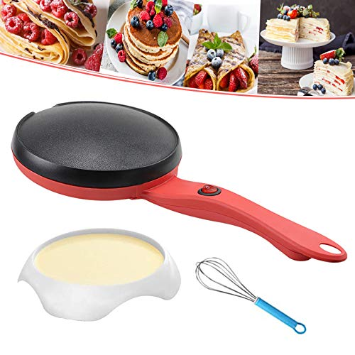"Portable Electric Crepe Maker,8"" Fry Egg Pancake Pot Non-stick Crepe Pans Electric Crepe Pan Pancakes Machine for Crepes,Pancakes, Tortillas,Household Kitchen Cooking Tools 1Pack"