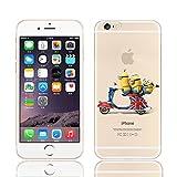 starmobile cases Schutzhülle für Apple iPhone 5 / 5S / 5C / 6 / 6S / 6+, Disney-Prinzessinnen-Design, transparent, Minions-On Scooter, iPhone 5/5S