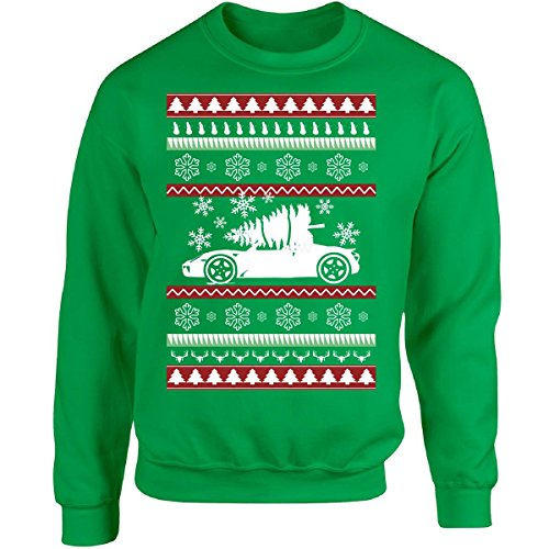 Ugly Christmas Sweater Great Gift For A Sport Cars Fan - Adult Sweatshirt