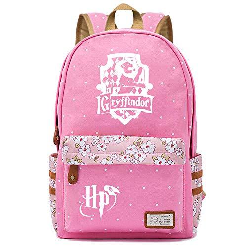 NYLY Mochila de la Escuela Secundaria de Las niñas Adolescentes para Las Mujeres Casual Shopping Travel Floral Daypack Harry Potter 15.6