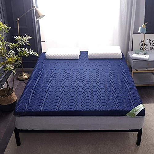 Anzkzo Japanese Anti-skidding Futon Tatami mattress Thicken Memory foam Mattress Anti-bacterial Topper Mattress Winter Double Single-90 * 190cm A