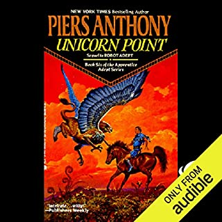 Unicorn Point     Apprentice Adept Series, Book 6              Written by:                                                                                                                                 Piers Anthony                               Narrated by:                                                                                                                                 Traber Burns                      Length: 12 hrs and 55 mins     1 rating     Overall 5.0