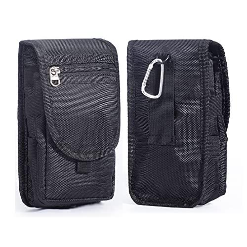Ranboo Gürtelclip Holster, Nylon Smartphone Holster Tasche Kompatibel für iPhone Xs Max XS XR 7 8 Plus MOLLE Taktische Tragetasche Gürtelschlaufe Herren Taille Galaxy S9 S8 Note 9 5 Schwarz