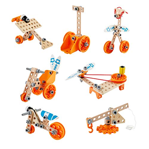Hape E3032 Set Deluxe Mint-Spielzeug, Experimentierset, Junior Inventor-Erfinden und Experimentieren