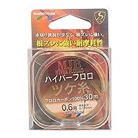 SHIMOTSUKE(シモツケ) フロロカーボンライン MJB ハイパーツケ糸 30m 0.6号 クリアー