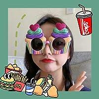 ピクニックリトルデイジー面白い誕生日メガネギフト面白いおもちゃ自分撮りパーティーサングラスなりすましメガネ 蛋糕