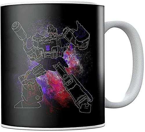 Megatron Spray Transformers Taza de café de cerámica Taza de té Novedad Festival Regalo de cumpleaños