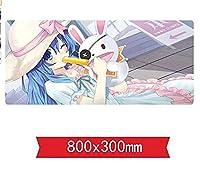 マウスパッドライブマウスマットゲーミングの日付、800 x 300 x 3 mm、滑り止めのラバーベース、レーザーおよび光学式マウスに対応 E