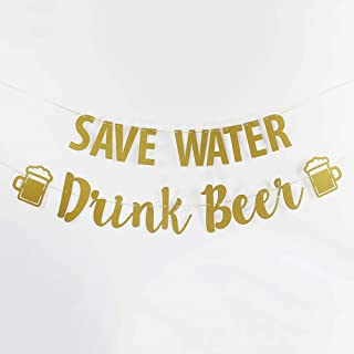8f588b12 Save Water Drink Beer Banner Wedding Bubbly Bar Mimosa Bar Sign Kitchen  Wine Bar Room Bachelorette