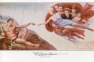 Touch Celebrity by Renato Casaro 36.75 x 24.5 Art Print Poster Marilyn Monroe Jame Dean Humphrey Bogart John Wayne Elvis, Clark Gable Exclusive