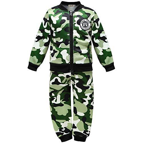 Coralup - Conjunto de ropa de invierno para niños pequeños y niñas de camuflaje, 3 colores de 12 meses a 5 años Verde Ejercito Verde 3-4 Years