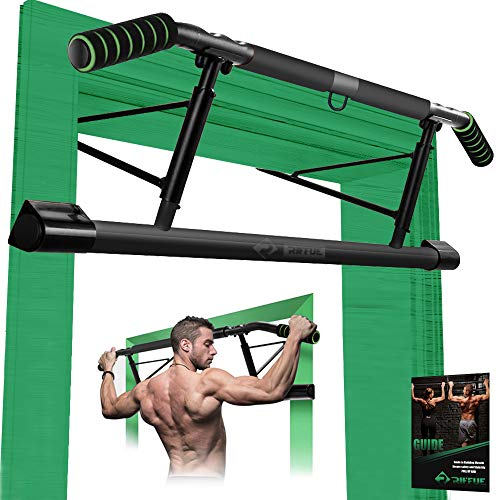 Pull up Bar for Doorway No Screws with Smart Hook, Foldable Multifunctional Chin Up Bar with Ergonomic Grip for Home Gym Exercise Trainer, up to 440lbs