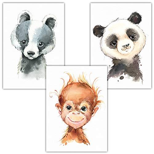 Frechdax Juego de 3 pósteres para habitación Infantil, tamaño DIN A4, diseño...