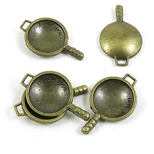 Antieke Bronzen Toon Sieraden Charms N04344 Wok Koken Pot Craft Art Maken Crafting Kralen Antiek brons