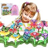 Nabance Blumengarten Spielzeug DIY Bouquet Sets Blume Bausteine für Kinder Kunst Blumenarrangement Spielzeug Outdoor Spielzeug Blumengarten Geschenk für 3+ Jährige Mädchen (109 PCS)
