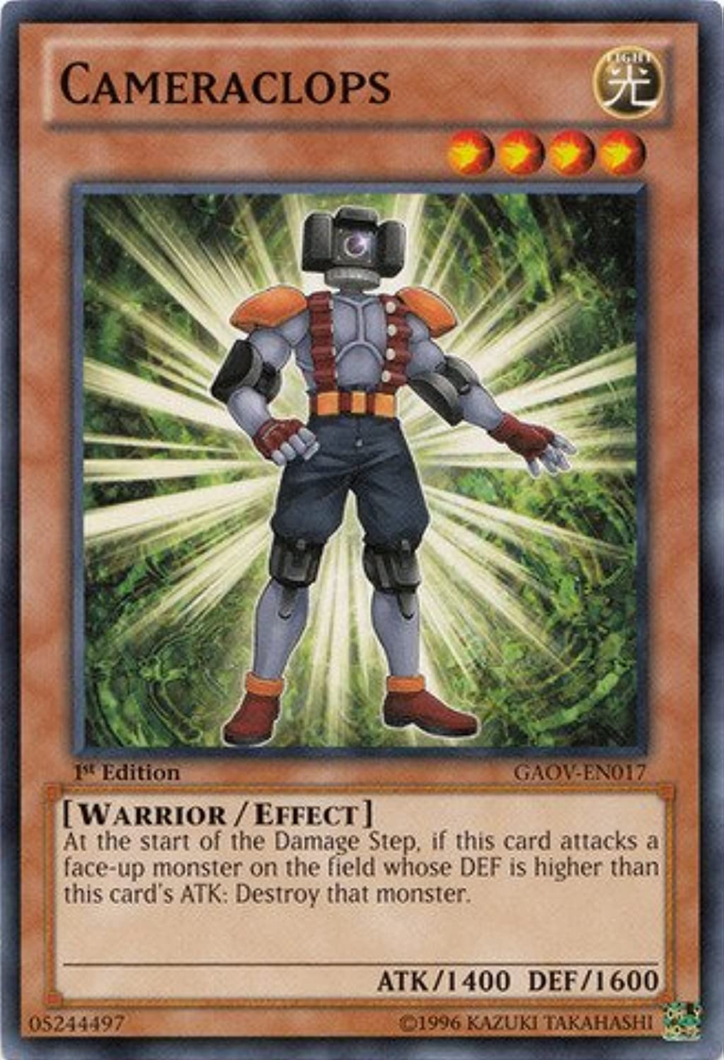 YuGiOh   Cameraclops (GAOVEN017)  Galactic Overlord  Unlimited Edition  Common