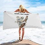 Toalla de Playa de Secado rápido Personalizada Koala para el día de la Madre, Toallas de Mano absorbentes y Ligeras para baño, Hotel, Gimnasio, SPA, Piscina, natación (27 'x55, Acuarela de Anima