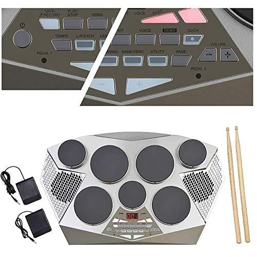 Qinmo Drum Pad electrónico, batería electrónica, 7 Pads