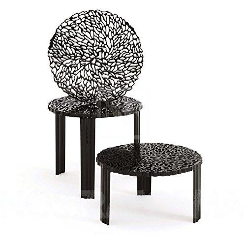 Kartell T-Table Beistelltisch 44, schwarz undurchsichtig