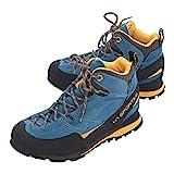 La Sportiva Boulder X Mid, Botas de Senderismo Hombre, Multicolor (Blue/Yellow 000), 43.5 EU