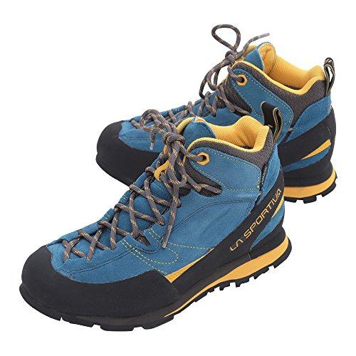 LA SPORTIVA Unisex-Erwachsene Boulder X Mid Trekking- & Wanderstiefel, Mehrfarbig (Blue/Yellow 000), 44 EU