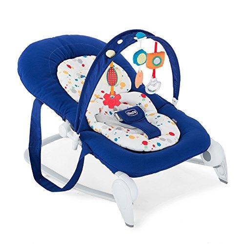 Chicco Hoopla - Hamaca con arco de juegos y reductor modular, 3,5 kg, color azul