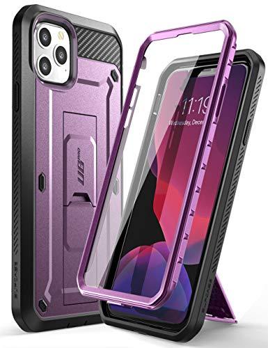 SupCase Funda iPhone 11 MAX [Unicorn Beetle Pro Serie] 360 Carcasa Completa con Clip de Cinturon y Protector de Pantalla Incorporado (Morado)
