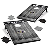 Wild Sports 2'x3' MDF Wood NFL Baltimore Ravens Cornhole Set - Grey Wood Design