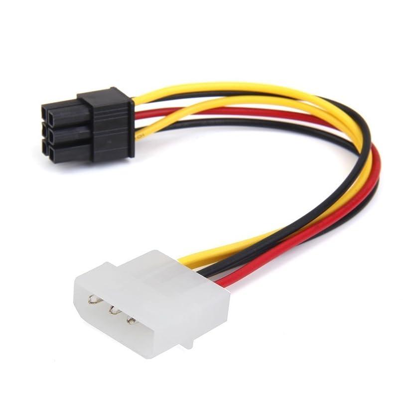 モナリザペナルティハンサムGaoominy 4-ピン オス~6-ピンメスソケットパワーケーブル PCIE PCIエクスプレスアダプタ