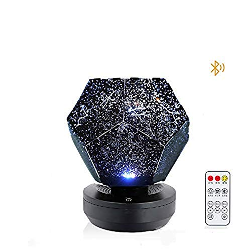 YingQ Three-Color Starlight Projector, DIY Original Family Planetarium Starry Sky Lights, Romantic Outdoor Bedroom Decoration Lights, Children's Best Gift ,Bluetooth Rotary Remote Control