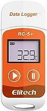 Registrador de datos de temperatura, registrador de datos de temperatura Elitech RC-5 +, informe PDF, 32000 puntos, USB