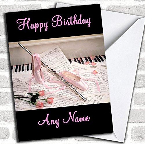 Ballet & muziek verjaardagskaart met envelop, kan volledig gepersonaliseerd worden, snel en gratis verzonden