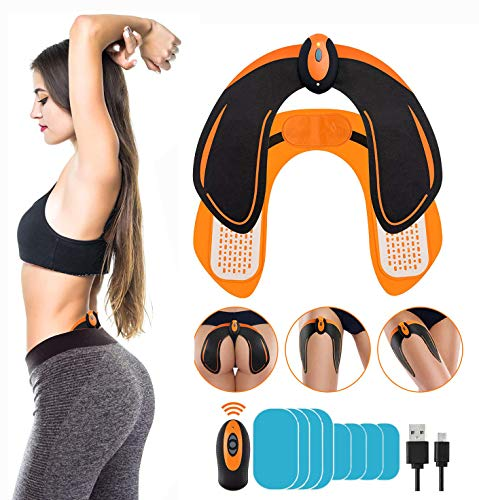 Butt Hip Trainer, Abs Stimulator - Automatic Fitness Enhancer, 6 Modes & 10 Intensity Levels - Lose Excess Fat, Shape The Hips - Feel Profound Changes in 60 Days with 8 Extra Gel Pads