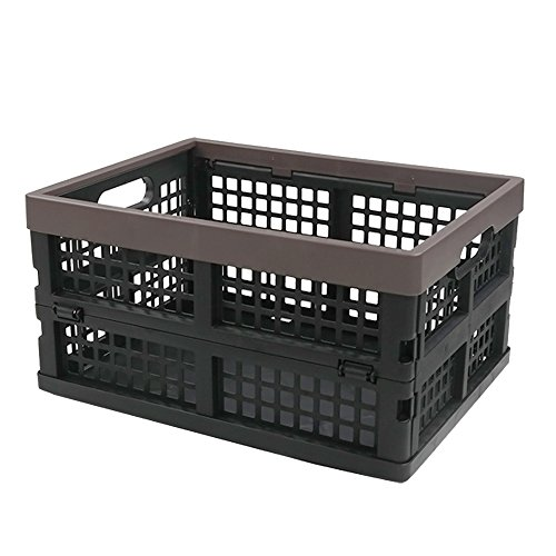 Nicesh Plastic Collapsible Storage Bin/Basket, Set of 2, 15 Quart