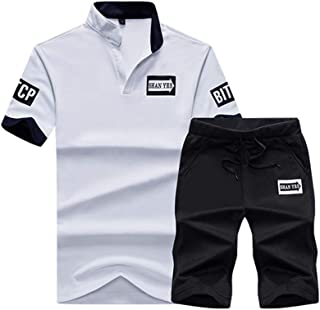Men's Casual Tracksuit Summer Outfits T-Shirts and Shorts Running Jogging Sports Suit Set