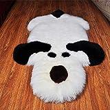 TTLLTL Tapis Laine Imitation Dessin Animé Panda Enfant Rampant Tapis en Peluche Salon Chambre Tapis De Chevet,C
