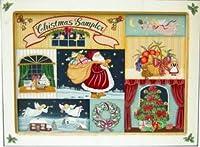 トールペイント ご自分で描く図案付白木素材キット cwk-020 クリスマスサンプラー(プレート8枚付)