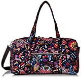 Vera Bradley Women's Signature Cotton Large Travel Duffel Travel Bag, Foxwood, One Size