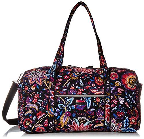 Vera Bradley Women's Signature Cotton Large Travel Duffel Travel Bag, Foxwood, One Size