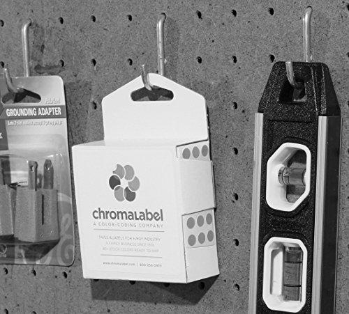 ChromaLabel 1/4 Inch Round Permanent Color-Code Dot Stickers, 1000 per Dispenser Box, Fluorescent Purple Photo #5
